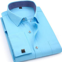 QISHA Men's Long Sleeves Dress Shirt with French Cufflinks Included - Divine Inspiration Styles