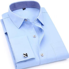 QISHA Men's Long Sleeves Dress Shirts with French Cufflinks Included - Divine Inspiration Styles