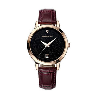 SANDA Women's Luxury Fashion Leather Watch