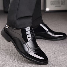 NPEZKGC Men's Genuine Leather Formal Business Dress Shoes