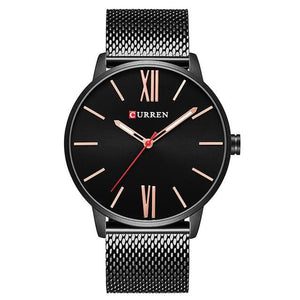 CURREN Men's Luxury Stainless Steel Waterproof Quartz Sports Watch - Divine Inspiration Styles