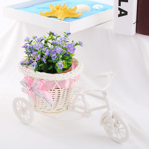 SOLEDI Tricycle Bike Basket Garden Vase for Home Decorations - Divine Inspiration Styles