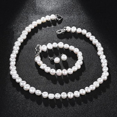 NYMPH Genuine Natural Freshwater Fine Pearl Jewelry Set - Divine Inspiration Styles