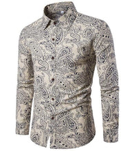 T-BIRD Men's Fashion Premium Quality Long Sleeves Hawaiian Dress Shirt - Divine Inspiration Styles