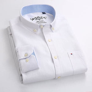 MANFASHION Men's Premium Quality Long Sleeves Solid Color Business Dress Shirt - Divine Inspiration Styles