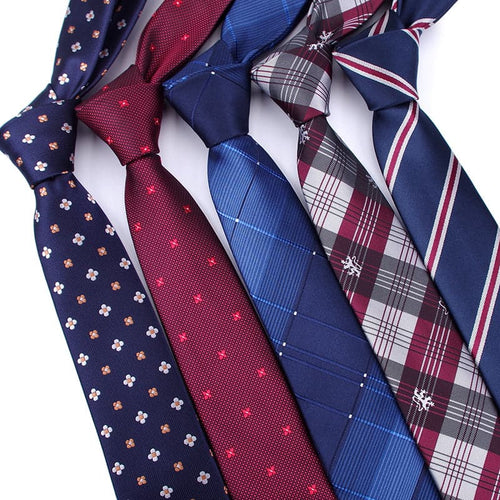 Assorted Men's Classic Premium Quality Jacquard Woven Skinny Neck Ties