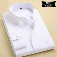 PaulJones Men's Long Sleeves Solid Color Business Dress Shirts