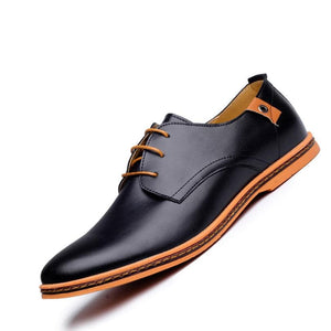 ZXQ Men's Premium Quality Genuine Leather Business Casual Dress Shoes