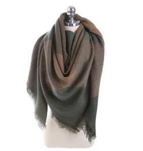 NAMAX Women's Luxury Warm Winter Plaid Cashmere Shawl Blanket Scarf - Divine Inspiration Styles