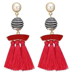 HOCOLE Women's Elegant Tassel Earrings Vintage Statement Tassel Fashion Earrings
