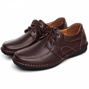 ZJNNK Men's Genuine Leather Casual Shoes