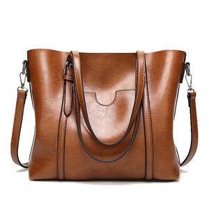 HERALD FASHION Large Capacity Genuine Leather Tote Bag