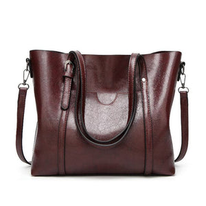 Herald Fashion Large Capacity Genuine Leather Tote Bag High Quality Leather Handbags Top-Handle Shoulder Bag