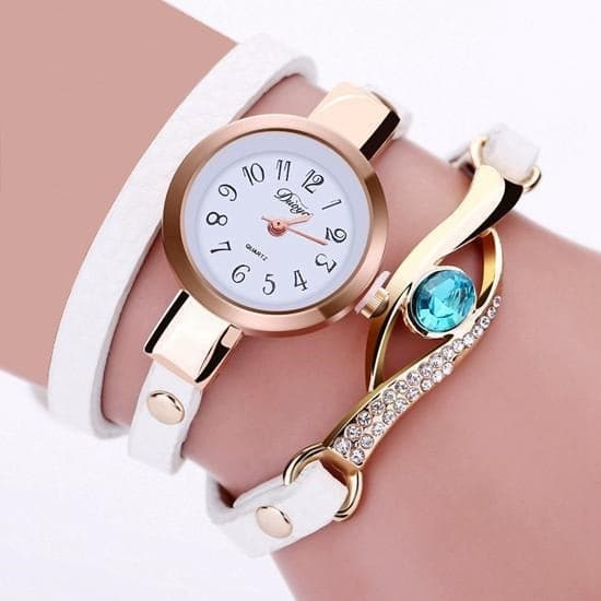 DUOYA Women's Fine Fashion Genuine Leather Gemstone Bracelet Watch - Divine Inspiration Styles