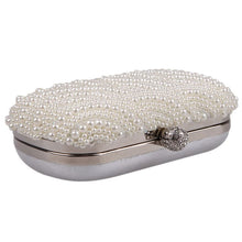 MOJOYCE Women's Fashion Premium Quality Oval Shaped Pearl Beaded Clutch Bag - Divine Inspiration Styles