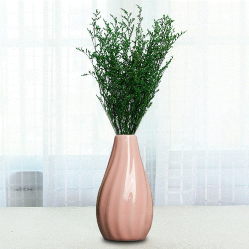 Ceramic Stripe Vase Classic Wedding Home Office Decorations Decor Ornaments 4 Colors