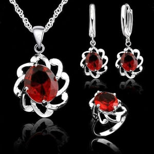 JEMMIN Women's Genuine Vintage Garnet Jewelry Set - Divine Inspiration Styles
