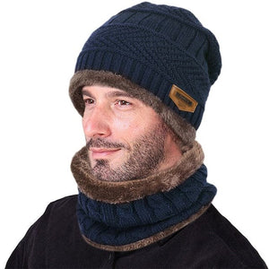 VBIGER Men's Winter Knitted Wool Cap and Circle Scarf