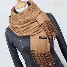 LIVAGIRL Women's Fashion Solid Color Cashmere Scarves with Tassels - Divine Inspiration Styles