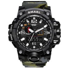 SMAEL Men's Fashion Military Watch 50m Waterproof LED Quartz Movement Watch - Divine Inspiration Styles