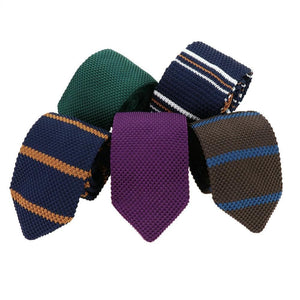 MANTIEQINGWAY Men's Fashion Premium Top Quality Classic Knitted Stripes Neckties for Formal and Business Casual Suits - Divine Inspiration Styles