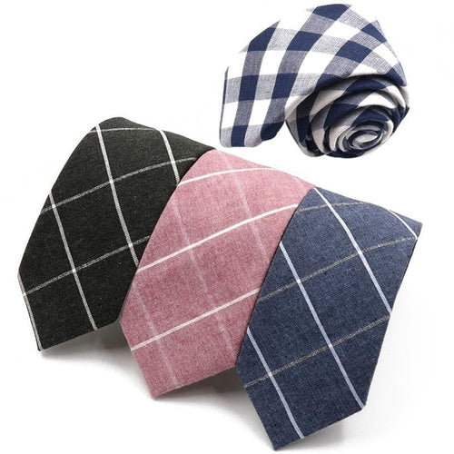 Mantieqingway Men's Classic Plaid Neckties For Formal and Business Casual Suits