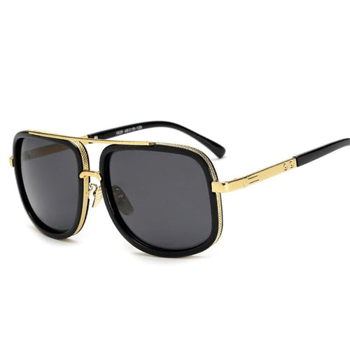 DPZ Men's & Women's Retro Style Fashion Premium Quality Square Luxury Sunglasses - Divine Inspiration Styles