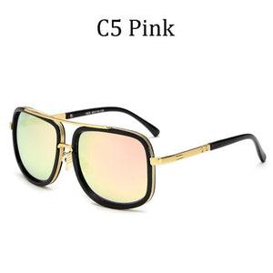 DPZ Men's & Women's Retro Style Fine Fashion Premium Quality Square Luxury Sunglasses - Divine Inspiration Styles