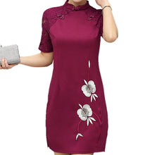 FOXMENTOR Women's Fashion Elegant Floral Embroidery Lace Dress - Divine Inspiration Styles