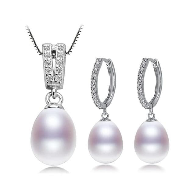 NYMPH Genuine Natural Freshwater Pearl Jewelry Set - Divine Inspiration Styles