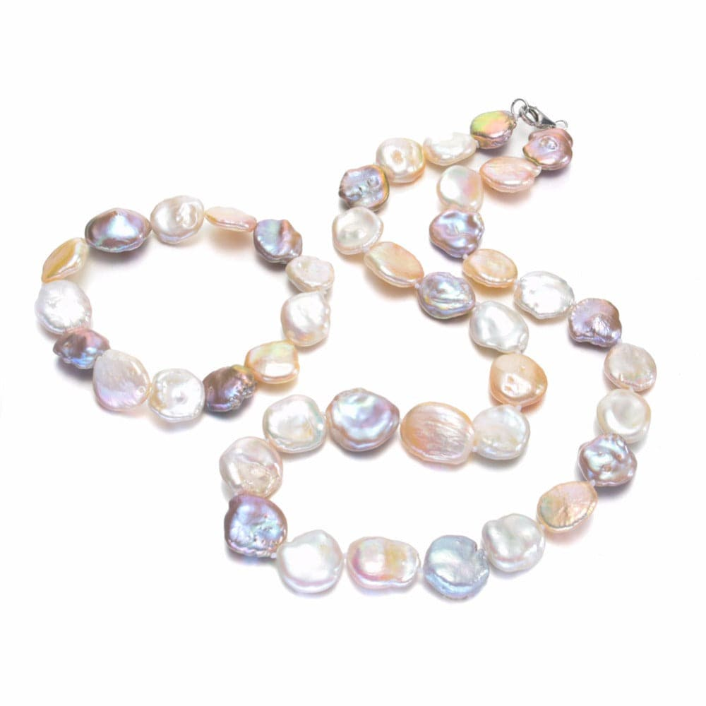 SNH Women's Genuine Natural Freshwater Multi-Color Pearl Jewelry Set - Divine Inspiration Styles