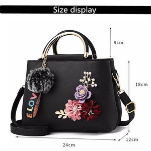 JOOZ-ELOVE Women's Fashion Beautiful Bouquet of Flowers Shell Tote Leather Messenger Handbag - Divine Inspiration Styles
