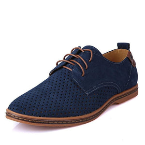 Merkmak Men's Premium Quality Luxury Brand Spring Summer Autumn Genuine Suede Leather Flat Shoes