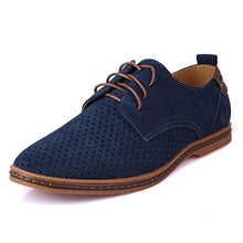 MERKMAK Men's Genuine Suede Leather Flat Shoes - Divine Inspiration Styles