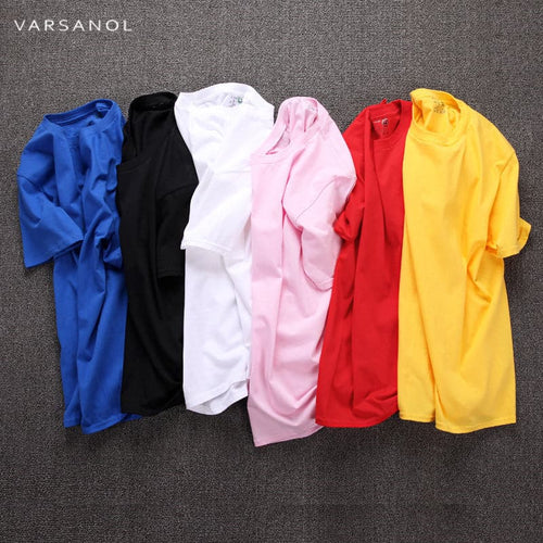 VARSANOL Men's Fashion Premium Quality T-Shirts Vivid Solid Color T-Shirts - Divine Inspiration Styles