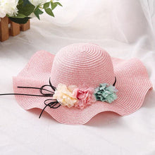DOITBEST Brand Women's Fashion Spring Summer Flower Straw Hat Vacation Beach Wedding Floral Sun Hat