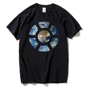 HanHent Specialty T-Shirt Earth Seen from Space T-Shirt Men's Short Sleeve Round Neck Casual Cotton Spring Summer Autumn T-Shirt