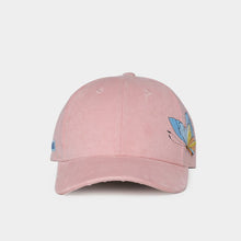 NUZADA Women's Fashion Butterfly Embroidery Spring Summer Autumn Suede Fabric Baseball Cap