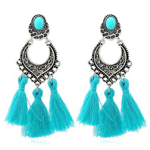 HOCOLE Women's Elegant Tassel Fashion Jewelry Vintage Style Bohemia Tassel Earrings - Divine Inspiration Styles