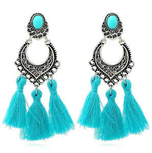 HOCOLE Women's Elegant Tassel Fashion Jewelry Vintage Style Bohemia Tassel Earrings