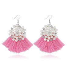 HOCOLE Women's Elegant Fashion Bohemian Pearl Tassel Earrings - Divine Inspiration Styles