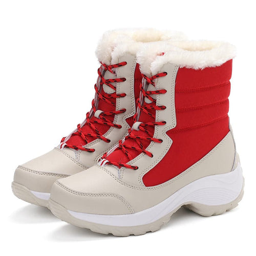 FLORENCE Women's Fashion Boots Waterproof Winter Snow Shoes with Cozy Thick Fur & Heels - Divine Inspiration Styles
