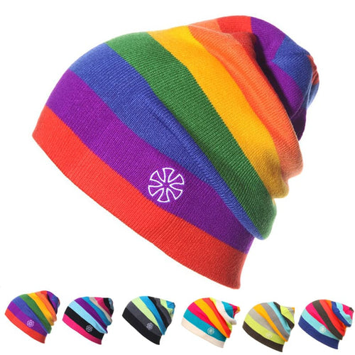 GEMAY Men's & Women's Luxury Premium Quality Fashion Colorful Stripes Knitted Hats - Divine Inspiration Styles