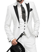 GMSUITS Men's Fashion Formal 3-PCS Tuxedo (Jacket + Pants + Vest) Suit Set - Divine Inspiration Styles