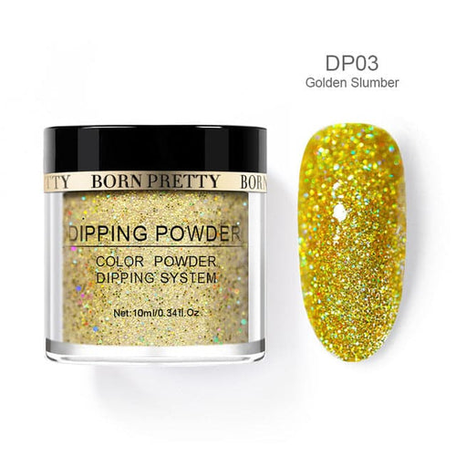 BORN PRETTY Women's Fashion Holographic Dip Nail Powder Gradient Dipping Glitter for Nails - Divine Inspiration Styles