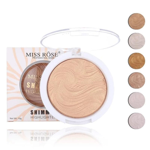 MISS ROSE Highlighter Bronzer Brightener 12 Colors Make Up Easy to Wear Cosmetics Concealer Powder - Divine Inspiration Styles