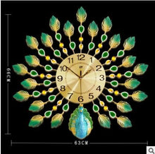 PROSPERITY Peacock Wall Clock for Living Room Decorative Wall Clock - Divine Inspiration Styles