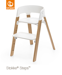 Stokke® Steps™ Stoel Beukenhout + Gratis Munch Essentials Set