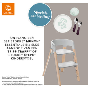 Stokke® Steps™ Stoel Eikenhout + Gratis Munch Essentials Set