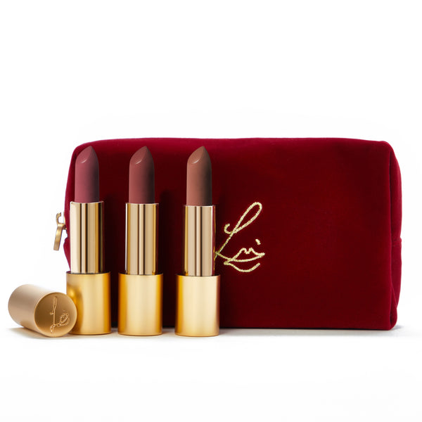 The Soft Velvet Collection (Velvet Beauty, Muse and Fawn in a velvet bag)